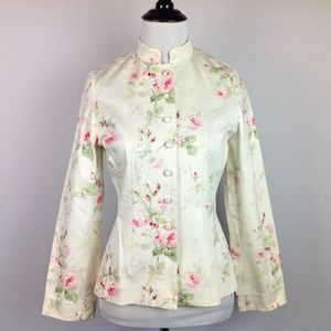 Ralph Lauren Jacket Womens Small Petite Floral